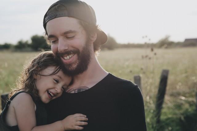 親子の笑顔