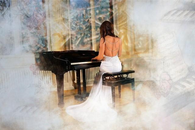 ピアニストの幻想的な演奏